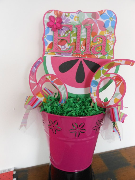 Luau Birthday Watermelon Centerpiece
