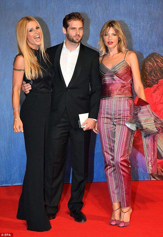 Three of a kind: (L-R) Michelle Hunziker, Tomaso Trussardi and Gaia…