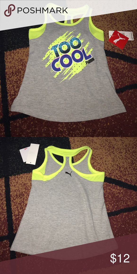 Girls Puma shirt sz 5 NWT New with tag. Cotton/polyester blend. Please check my other listings. Thank you for looking and have a great day! Puma Shirts & Tops Tank Tops