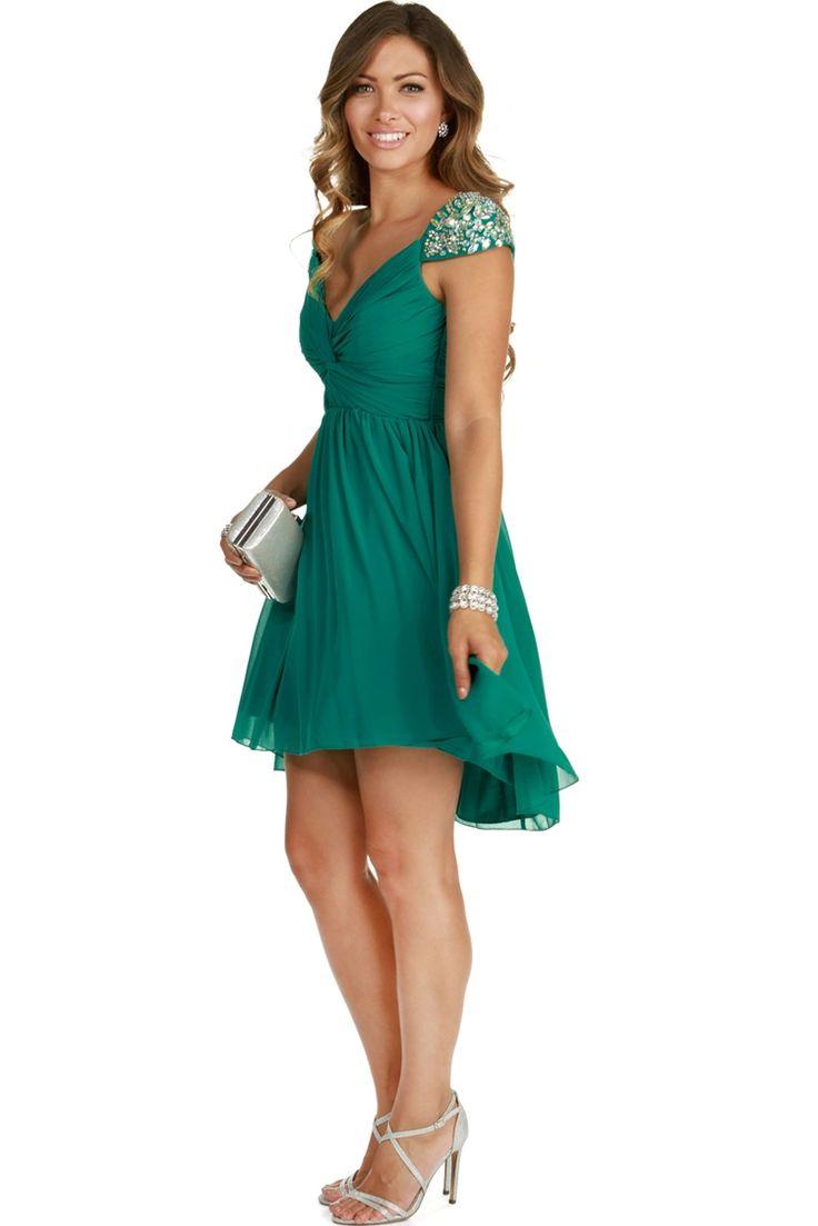 Final Sale- Melanie Teal Homecoming Dress