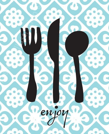 Enjoy Utensils Kitchen Art Print 8x10. $18.00, via Etsy.