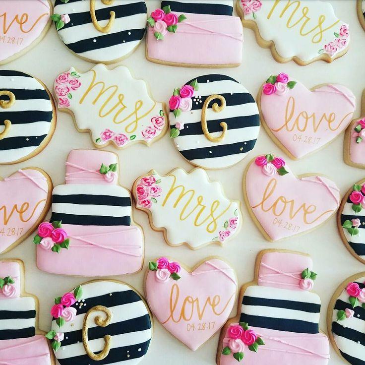Kate Spade bridal shower cookies