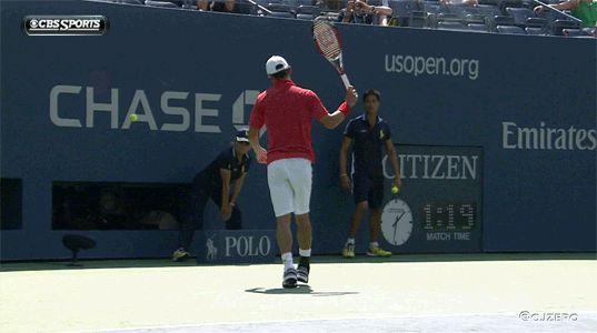The most impressive part of Kei Nishikori's win was this no-look racket flip