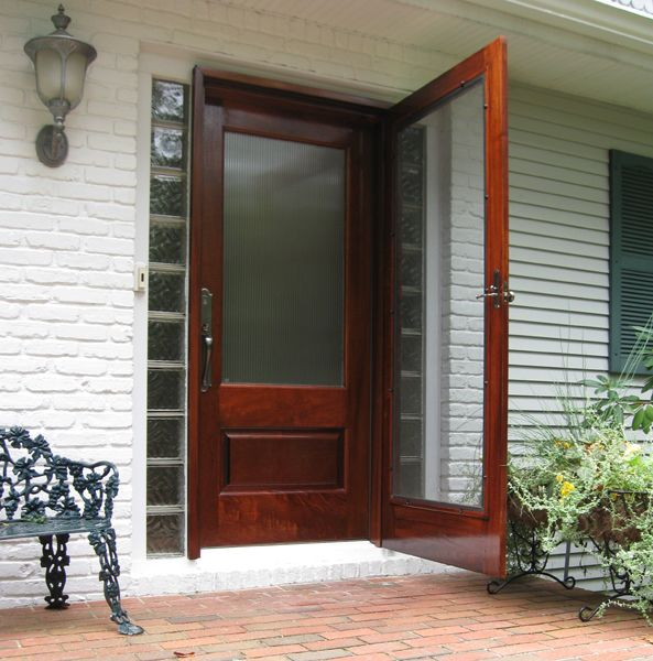 Perfect Wood And Glass Storm Door