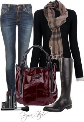 oxblood and burberry Fall 2013