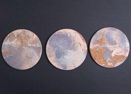 Tutoriel DIY: Faire des dessous-de-plat en liège marbrés via DaWanda.com