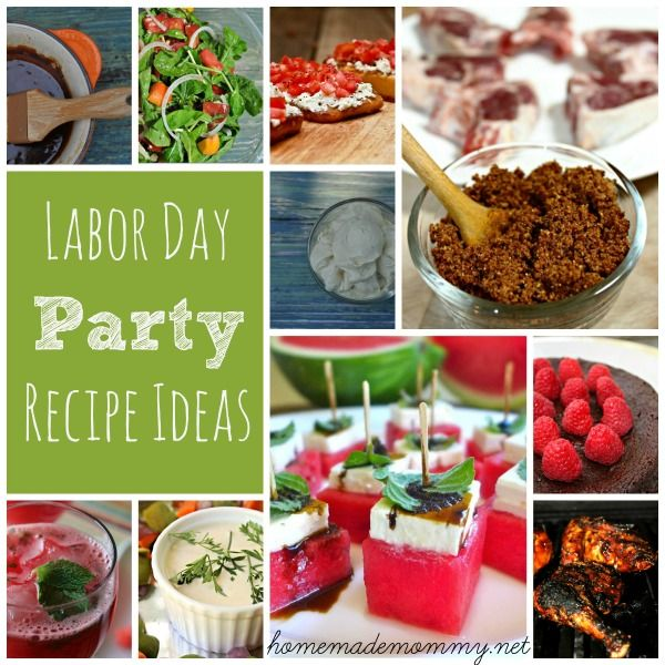 End of Summer Labor Day Party Recipe Ideas