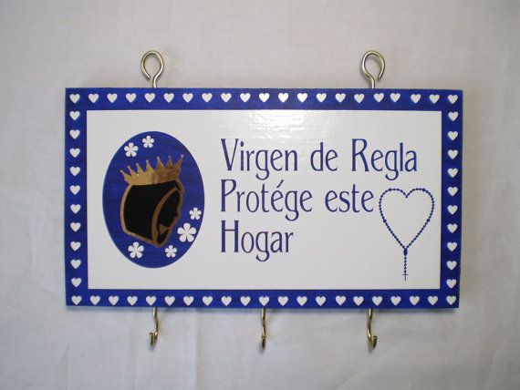 Keys Holder Virgen de Regla by OshaDesigns on Etsy