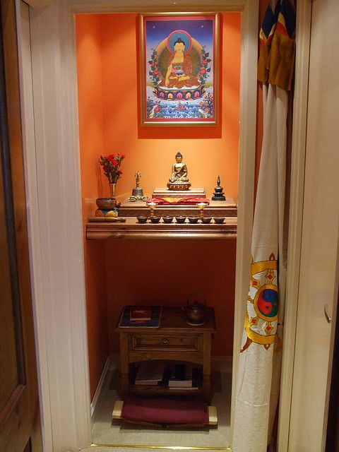 Not Buddhist but I like the idea of making the home altar in a closet so it really is its own space