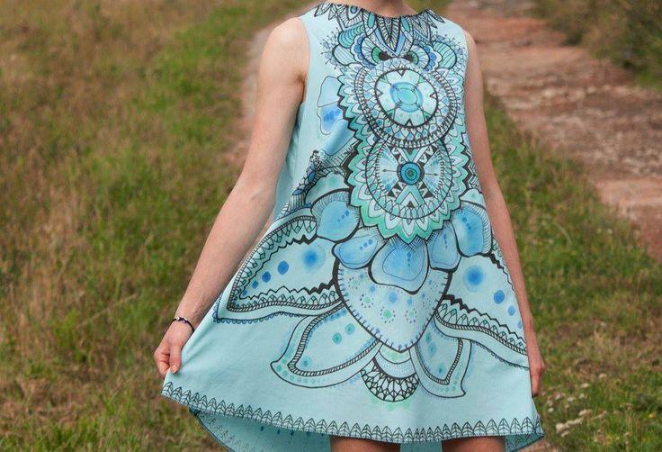 Dress #designed and made by Beata Janiga #projekt #ornaments #dress #extraordinary