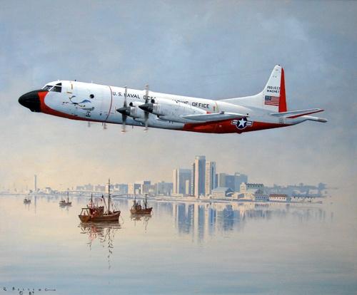 "150 Lockheed P3 Orion ""Roadrunner"" departing Port Elizabeth for Perth, 1973    750 x 906 mm"