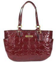 COACH Gallery Embossed Patent Tote - Crimson #Coach #Handbags