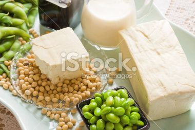 Soy Bean Food and Drink Products Photograph with Several Elements Royalty Free Stock Photo
