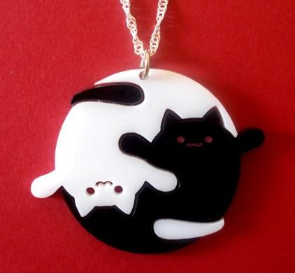 Yin Yang Cat Necklace