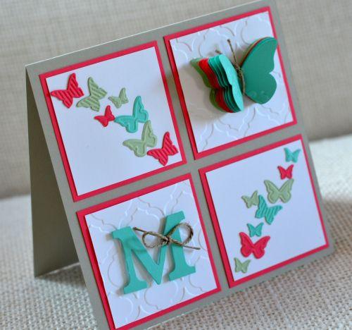 Stampin' UP! - Schmetterlingsgarten - Geburt - Baby - Mädchen - Modernes Mosaik