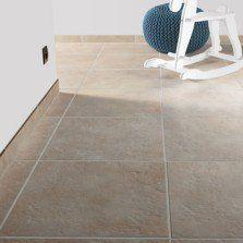 Carrelage sol et mur crème effet pierre Provence l.45 x L.45 cm