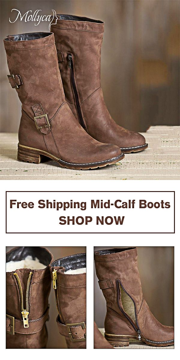 13847528a6  55.68 USD Sale! Free Shipping! Shop Now! Women Vintage Warm Brown Snow  Boots