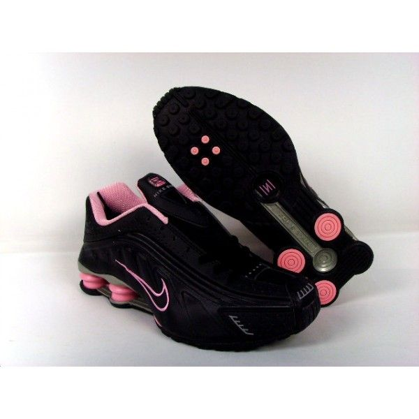 Black and pink Nike Shocks