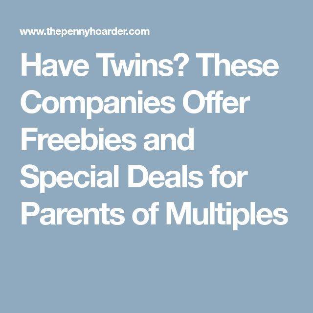 Have Twins? These Companies Offer Freebies and Special Deals for Parents of Multiples