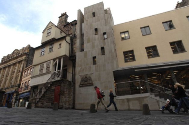 The Scottish Storytelling Centre on Edinburgh's High Street. Picture: Colin Hattersley - plans announced to turn the area around the Netherbow into the city's literary quarter.