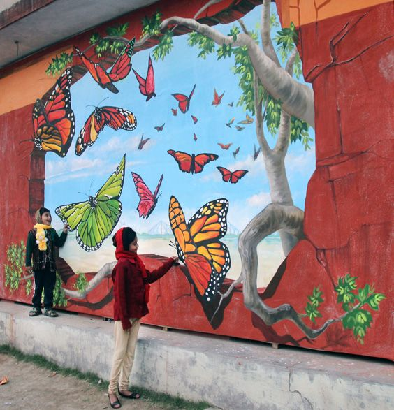 471 best images about it 39 s an illusion on pinterest for 3d mural art in india
