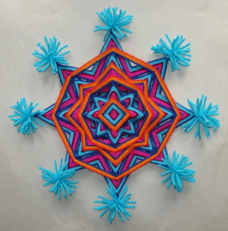Mardi GrasOjo de Dios Garn-Mandala von HighDesertAlchemy auf Etsy                                                                                                                                                                                 Mehr