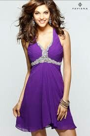 Dark purple dress with sequence