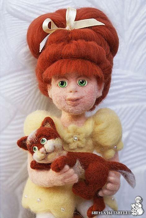 Felted doll by Larisa Ivanova, shop: http://www.livemaster.ru/larisaiv