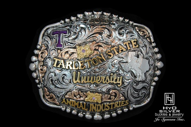Custom college buckle for a Tarleton State University grad! Ask us about our current University licensing list!