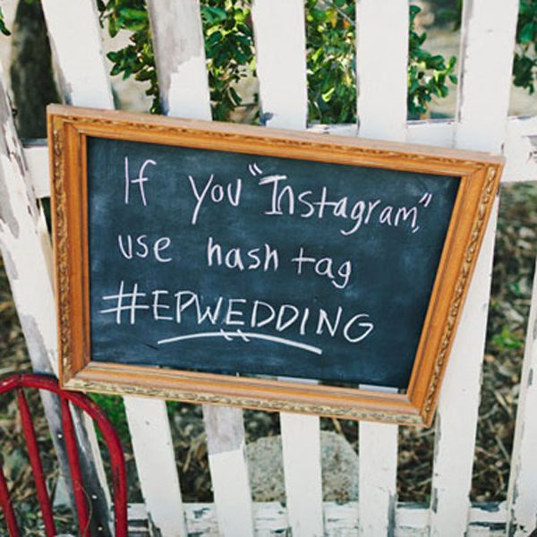 Really helpful way to collect your guests' photos all in one place! Instagram and Twitter!