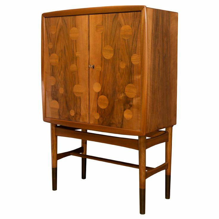 Edvard And Tove Kindt Larsen Walnut Bar Cabinet
