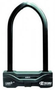 Abus GRANIT EXTREME 59 180/260 D Shackle Bike Lock THIS IS VERY PROBABLY THE TOUGHEST D LOCK MONEY CAN BUY. PRINCIPALLY DESIGNED FOR USE ON MOTORCYCLES THE GRANIT EXTREME IS SUITABLE FOR ANY HIGH RISK APPLICATION. A 16MM SQUARE SECTION PARABOLIC SHACK http://www.MightGet.com/february-2017-1/abus-granit-extreme-59-180-260-d-shackle-bike-lock.asp