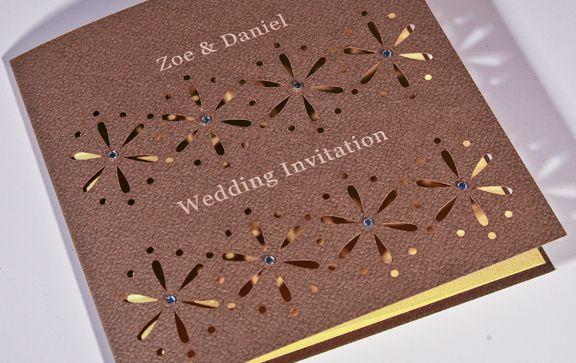 Affordable Laser Cut Wedding Invitations: Wedding Stationery Collection. Laser Cut