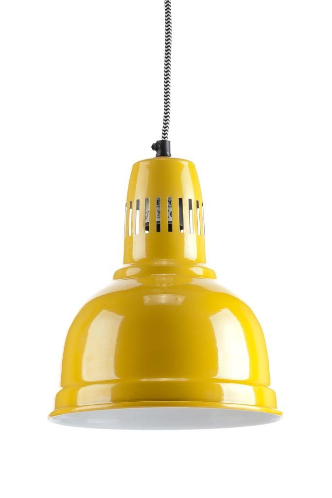 Lampa wisząca skandynawska Nuno Yellow Aluro