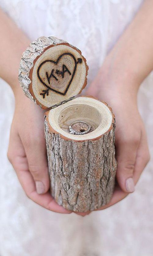 Wedding Ring Boxes - Rustic and adorable - Via braggingbags, $22.50