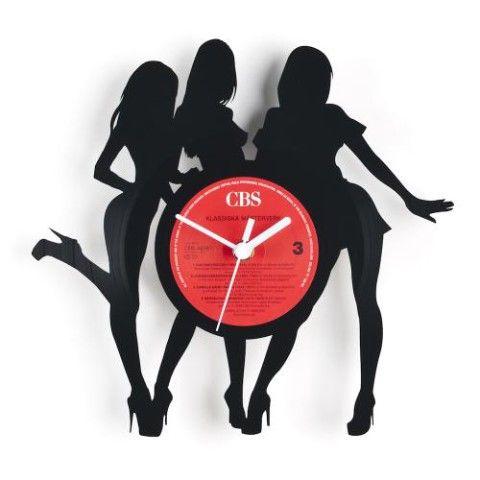 【古いレコードを大胆アレンジ】【Re_Vinyl】リヴァイナル レコード盤アナログ時計  【GIRL】
