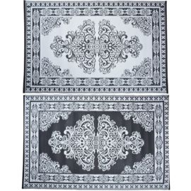Tuintapijten de hit van 2017  Slechts 918gram per tapijt  Waterbestendig  Eenvoudig schoon te maken  Gemaakt van geweven polypropyleen  Tweezijdige print normaal en diapositief  Afmetingen: 120 cm x 186cm x 0,3cm