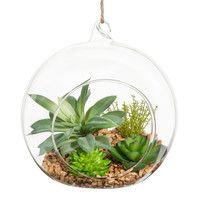 Künstliche Pflanze in Glaskugel | Maisons du Monde
