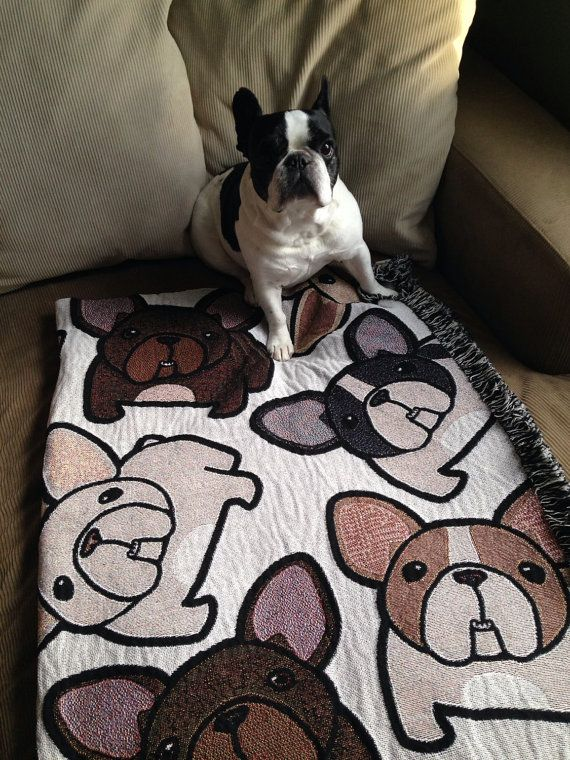 French Bulldog Blanket with FREE SHIPPING by frenchbulldogrescue