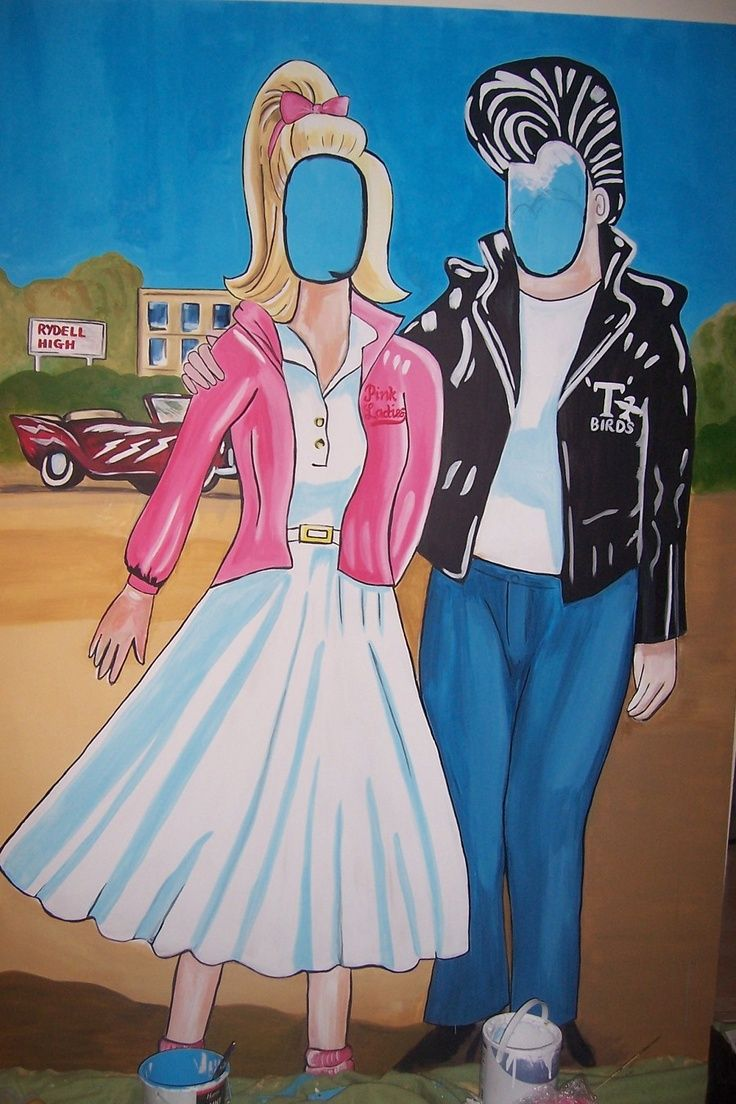Setup a prop area to take pictures at during your Grease movie ...
