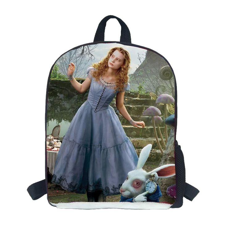 Kawaii Alice Book Bags Small Mochila Alice In Wonderland Bag for students teenagers Escolar De Alice Design Bookbags Schoolbags - Top Kawaii - Best Online Kawaii Shop Top Kawaii - Best Online Kawaii Shop