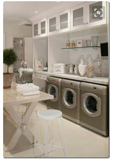 2 washers 2 dryers steamers dryingvracks plus 1 pressing unit ~ my kind of laundry room #edwardiandream