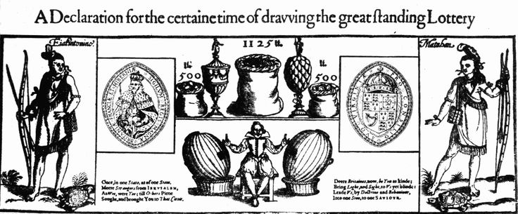 English Lottery, 1615 http://www.gutenberg.org/files/28555/28555-h/28555-h.htm