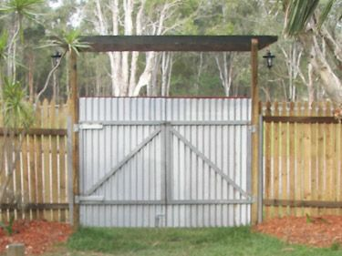 corrugated metal fence | Product Gallery | Affordable Fence Gates
