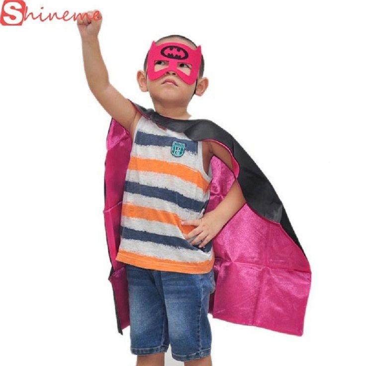 1cape 1mask cloak kids superhero capes boy children superman batman spiderman halloween baby costume cosplay super hero mask