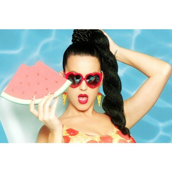 Watch Katy Perry Get Silly With Her College Football Picks on 'College... ❤ liked on Polyvore featuring katy perry and pics