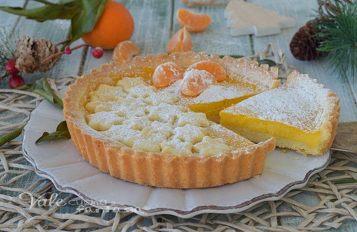 CROSTATA DI NATALE alle clementine, un dolce con un profumo unico, la crema alle clementine è facile, veloce, senza burro e latte ed ha un sapore delicato e profumato, la base della crostata è prepara