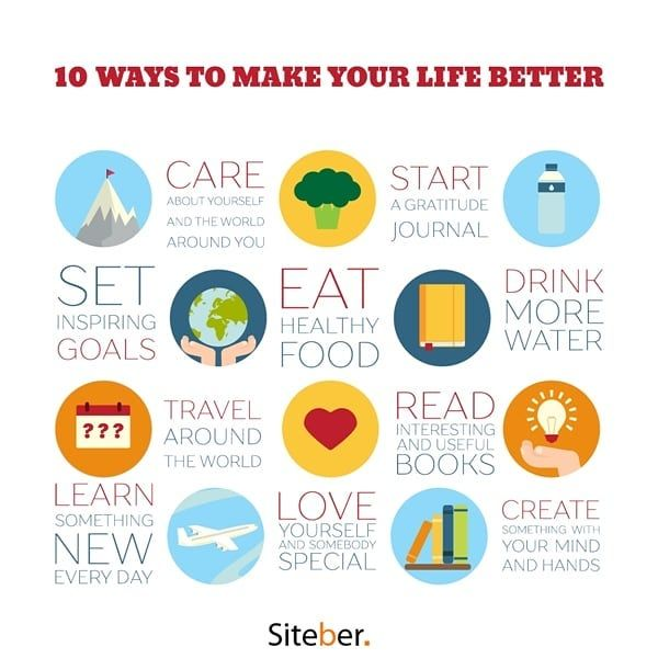10 ways to make your life better. Infographic design. #infographic #design #graf…