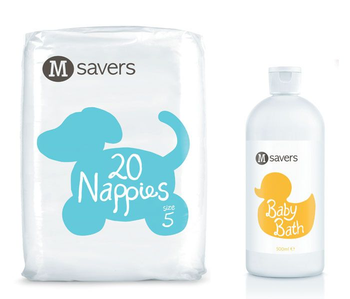 Creative packaging for nappies and baby bath