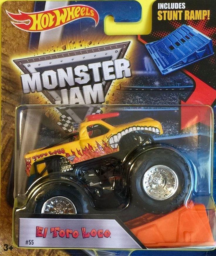 Hot Wheels Monster Jam Truck 1:64 Scale Stunt Ramp El Toro Loco #55